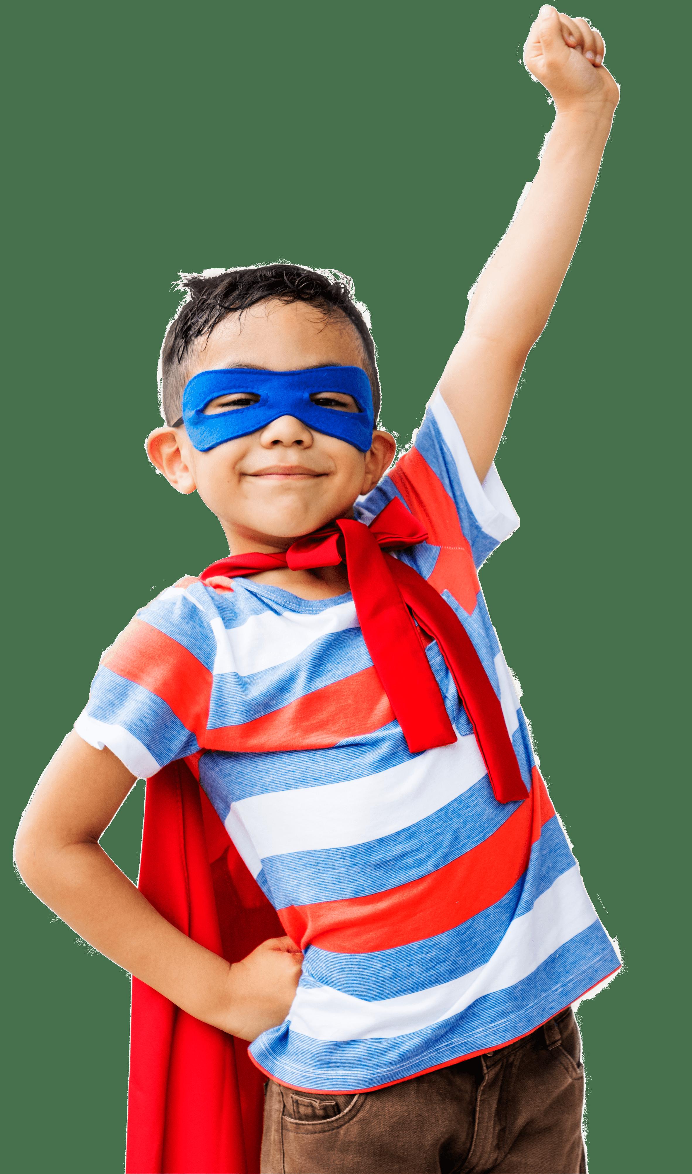 Niño súper heroe